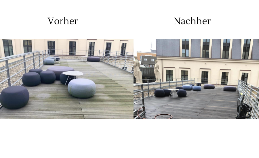 Foto Terrassenreinigung Hamburg vorher nachher